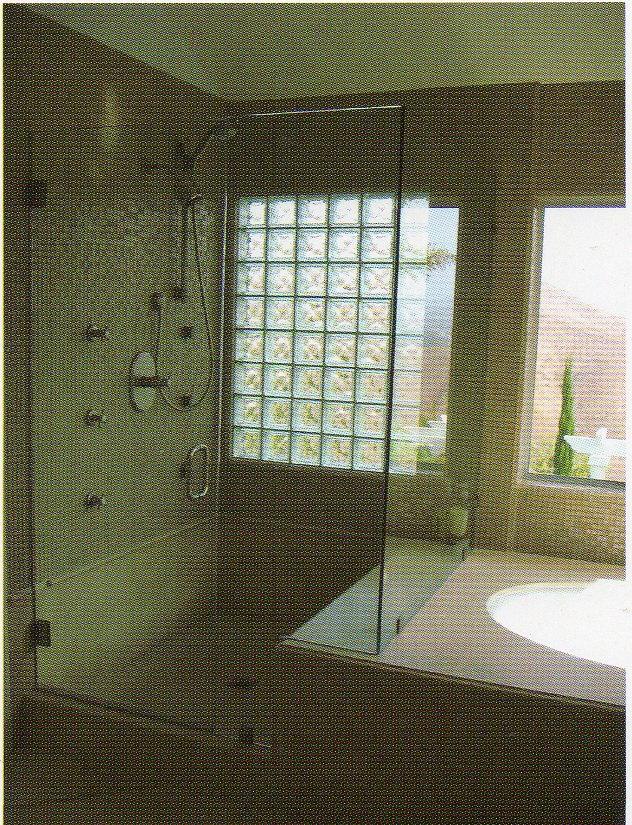 17 best images about shower ideas on pinterest neutral for Glass block window design ideas
