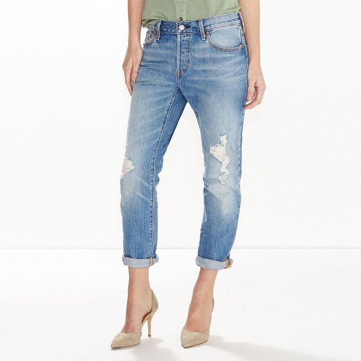 Levi's Womens 501CT Customized & Tapered Button Fly Jeans Size 32x32 -DISTRESSED #Levis #TaperedandCropped