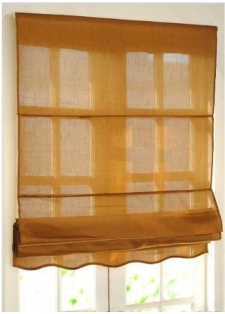 Colorful designer blinds with valences for windwos.