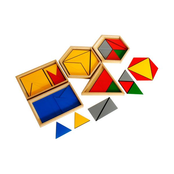 Constructive Triangles In Five Boxes from Montessori Outlet