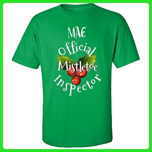 Mae Official Mistletoe Inspector Christmas - Adult Shirt 4xl Irish-green - Holiday and seasonal shirts (*Amazon Partner-Link)