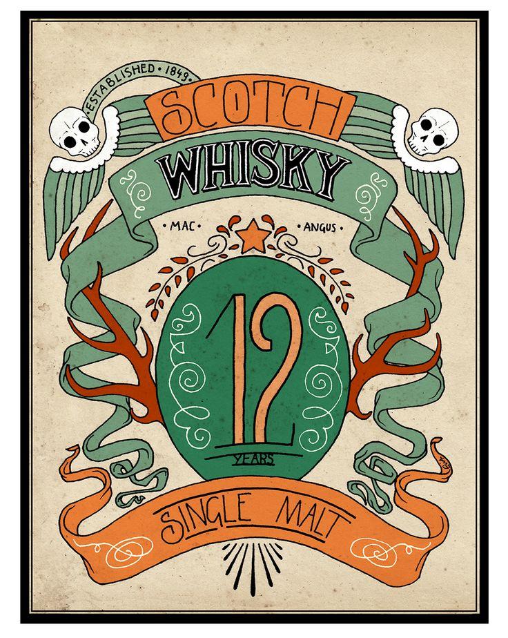 Scotch Whisky label on Behance