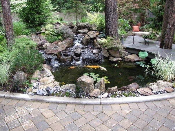 Pond and Waterfall  Woody's Custom Landscaping Inc  Battle Ground, WA