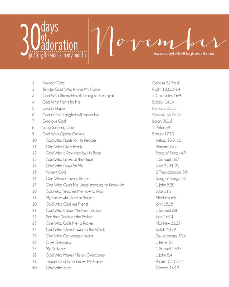 No Better Time - 30 Days of Adoration in November - download this file and post it on your desktop all month and take a few minutes to adore God.