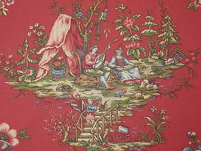 Lee Jofa Yangtze Print Red Chinese Asian Oriental Toile Cotton Drapery Fabric | eBay
