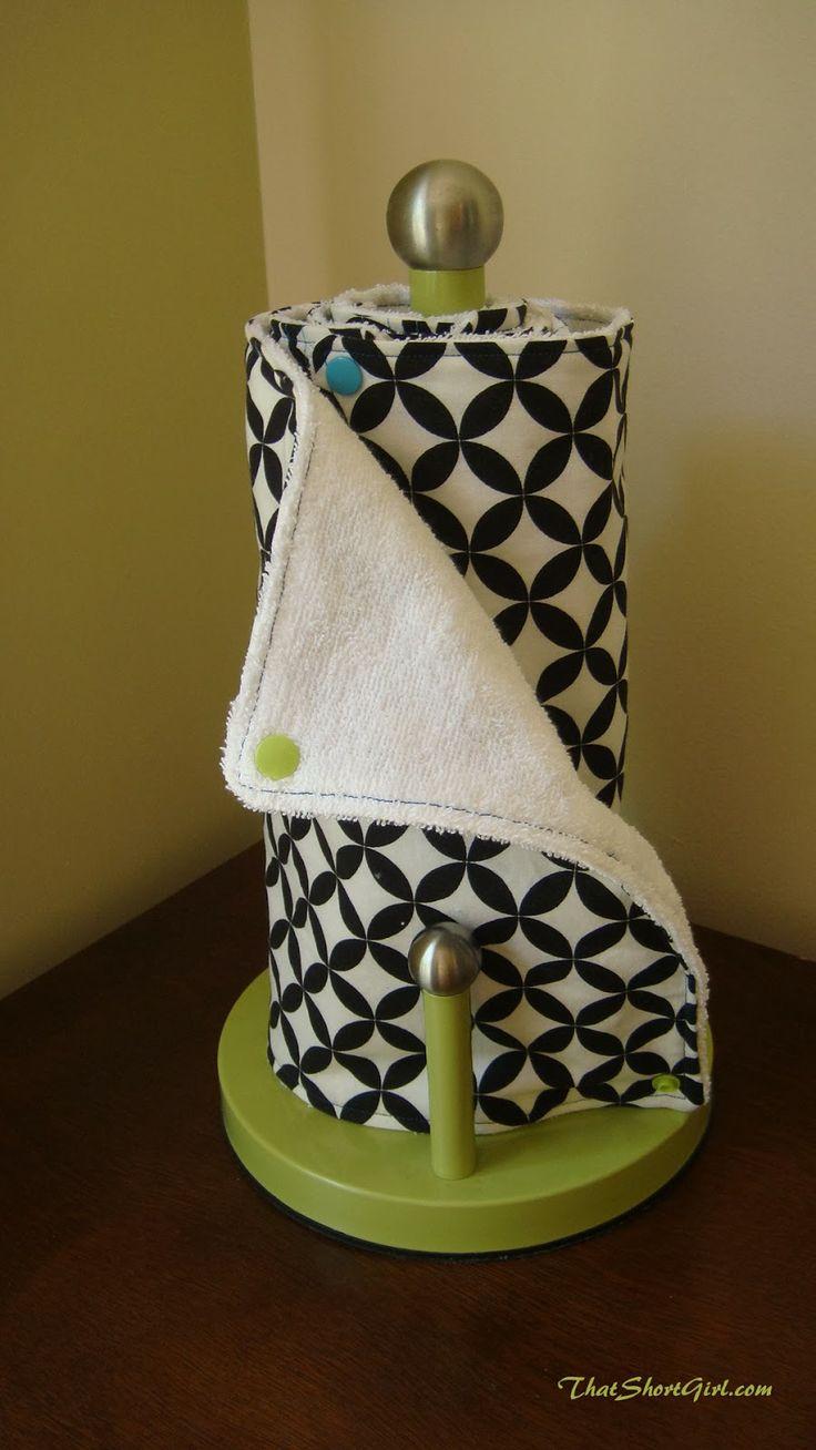 Ce Blog de la fille court: Tutoriel de serviette de papier réutilisable