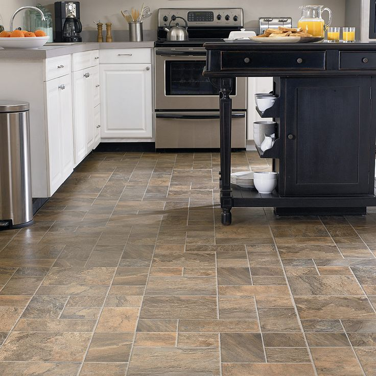 Captivating Beige Sandstone #laminate Tile Floors For #kitchen.