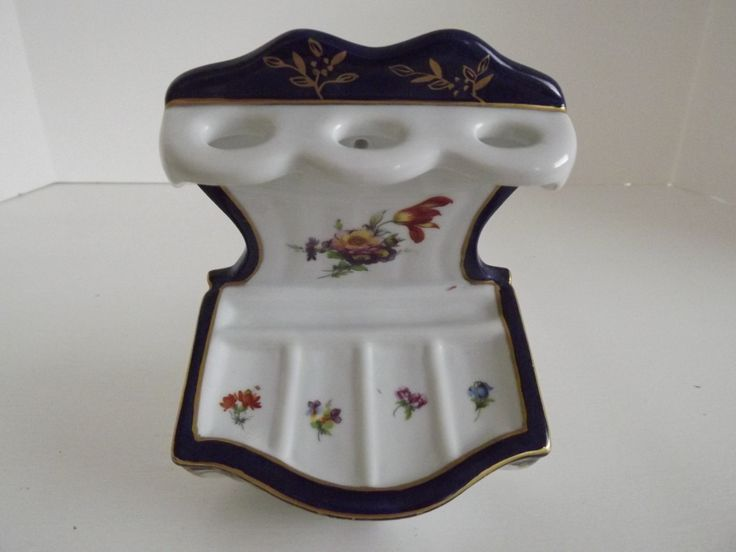 Vintage French Porcelain, Limoges Like, Soap & Brush Holder, Bathroom Decor, French Country, Paris Apartment, Shabby Chic, Circa 1960's by Rt9NJvintageFun on Etsy