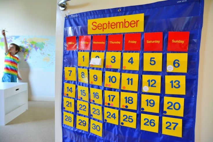 What works for us - a child friendly calendar at How we Montessori