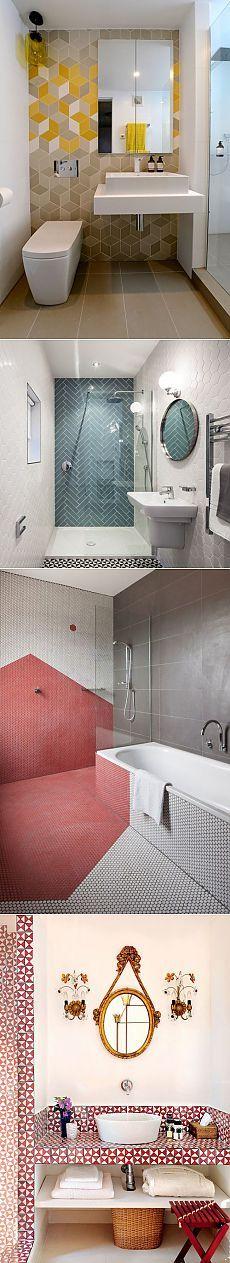 Геометрический Декор: Идеи для ванных комнат