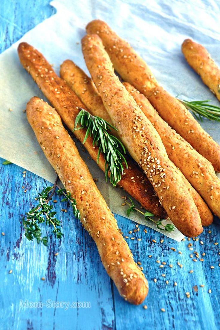 Хлебные палочки с сыром и розмарином