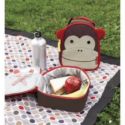 Skip Hop Zoo Little Kids & Toddler Insulated Lunch Bag - Monkey, Brown