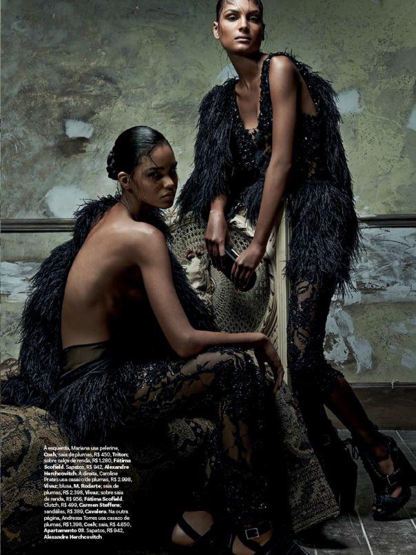 Mariana Santana, Caroline Prates & Andressa Torres for Vogue Brazil February 2014 by Zee Nunes