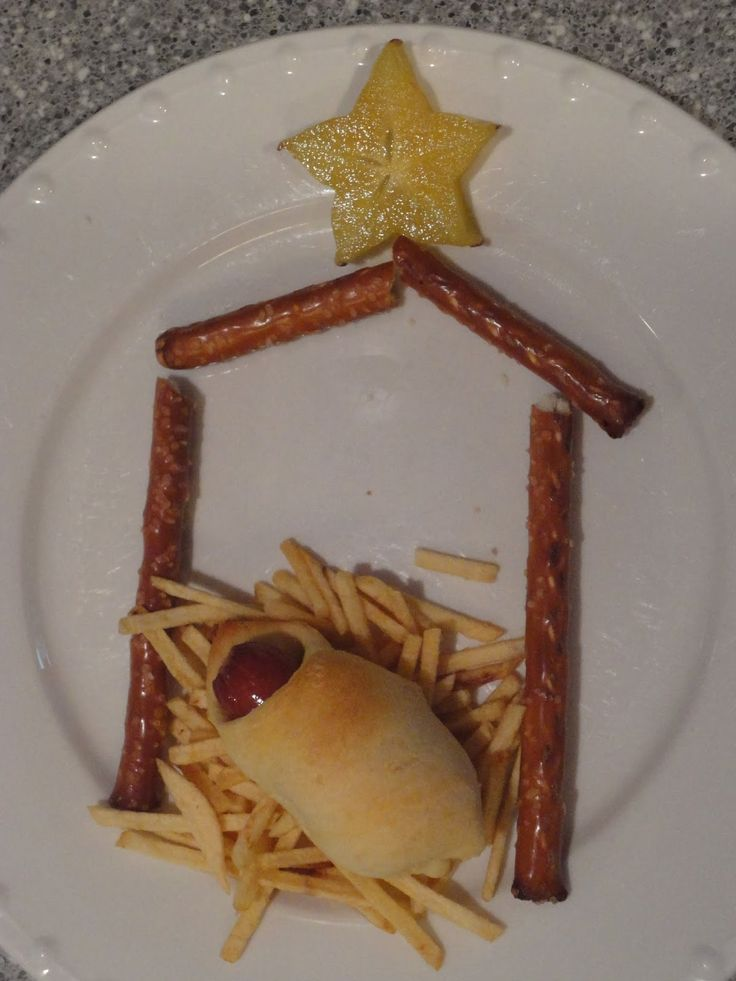 Paper Plate Christmas Craft Manger