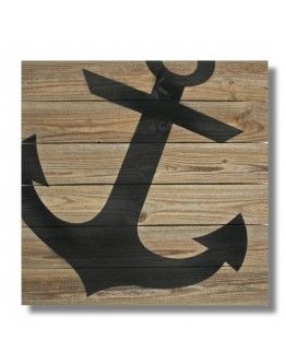 "22"" x 22"" Repurposed Wood Anchor Wall Art - (RCS-XL-ANCH)"