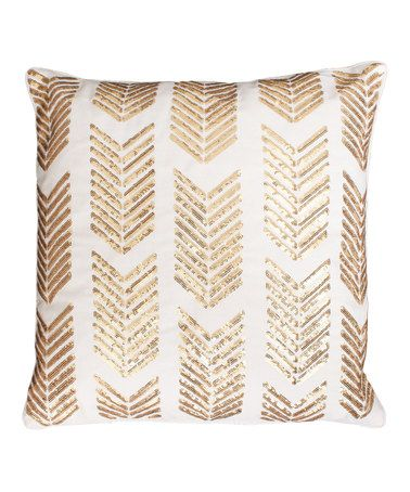 Loving this Egret Gold Sequin Hadara Sequin Arrow Throw Pillow on #zulily! #zulilyfinds