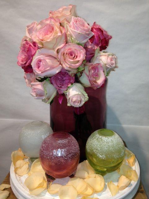 #Bruidsboeket in mooie vaasjes van Dutz. (Boeket gemaakt door www.bloemenweelde-amsterdam.nl)