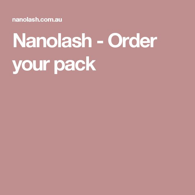 Nanolash - Order your pack