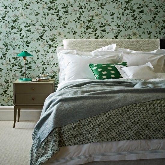 Mint green floral bedroom | Modern decorating ideas | Homes & Gardens | Housetohome
