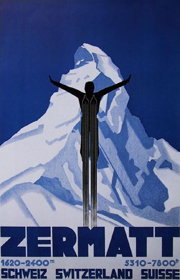 Zermatt Switzerland ski poster