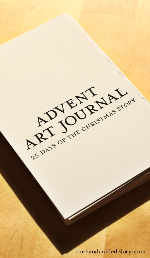 DIY Advent Art Journal: 25 Days of the Christmas Story. 4x6 art journal pages. Each page includes a part of the Christmas story written in simple words.