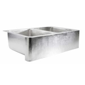 Ecosinks Farmhouse Apron Front Hammered Nickel 33x22x9 0