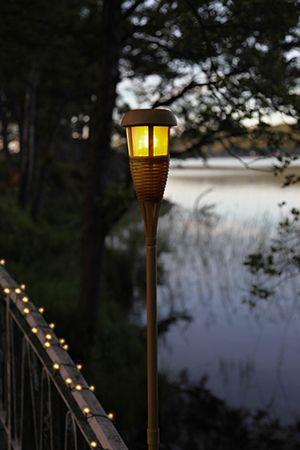Solenergi bambufackla natur beige STAR Traiding