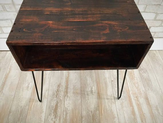This Side Table Or Nightstand Is 24 Inches Long 14 Inches Wide