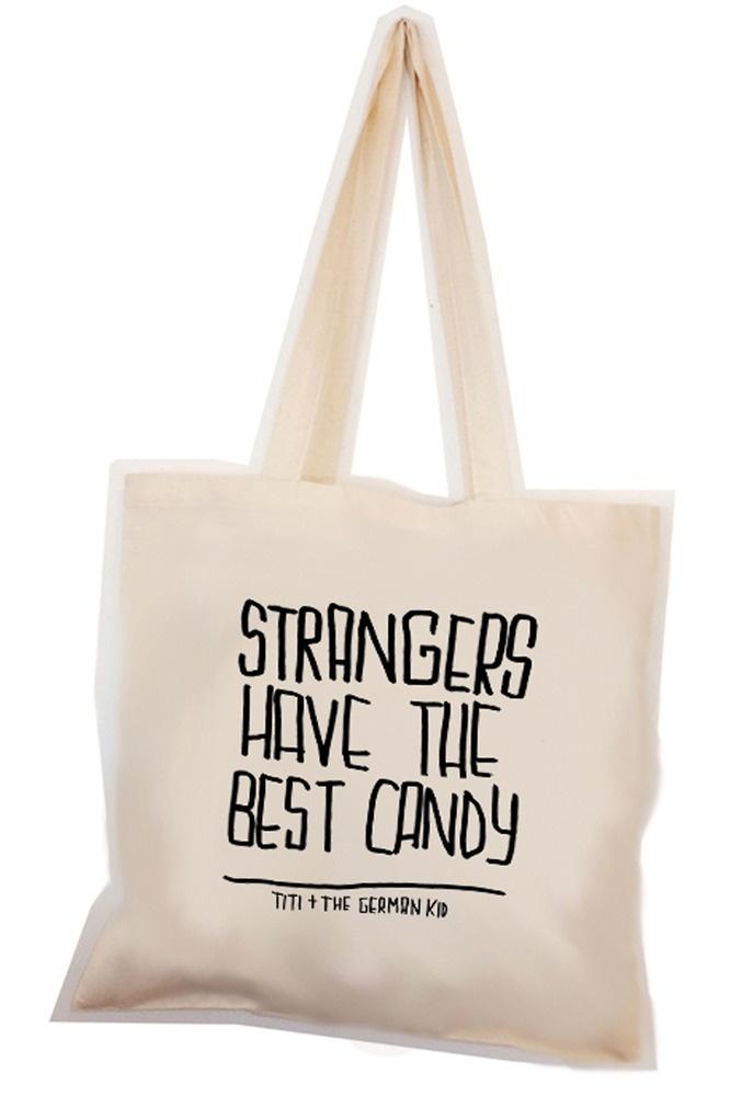 strangers tote #sac #cabas #totebag #baiseenville #toile #tissu #coton #lin