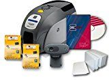 #2: Zebra ZXP Series 3 Dual Side Badge ID Card Printer & Supplies Bundle with Card Imaging Software
