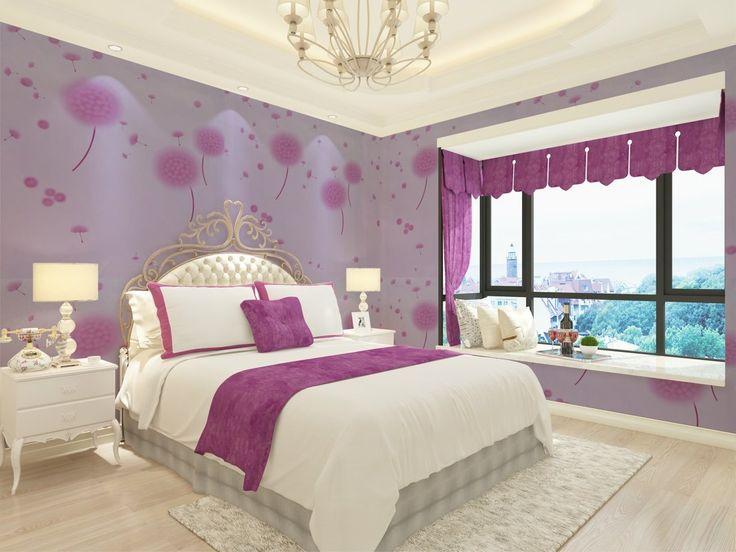 Amazon.com: SiCoHome Removable Wallpaper, Dandelion,Purple ...