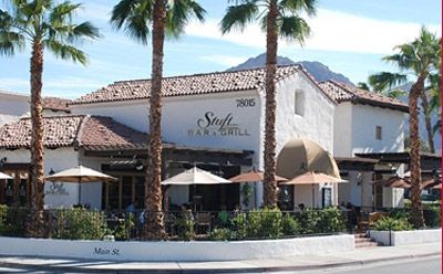 Stuft Pizza Bar & Grill in Old Town La Quinta, Ca.  Had the best pizza ever called Pizza Scampi