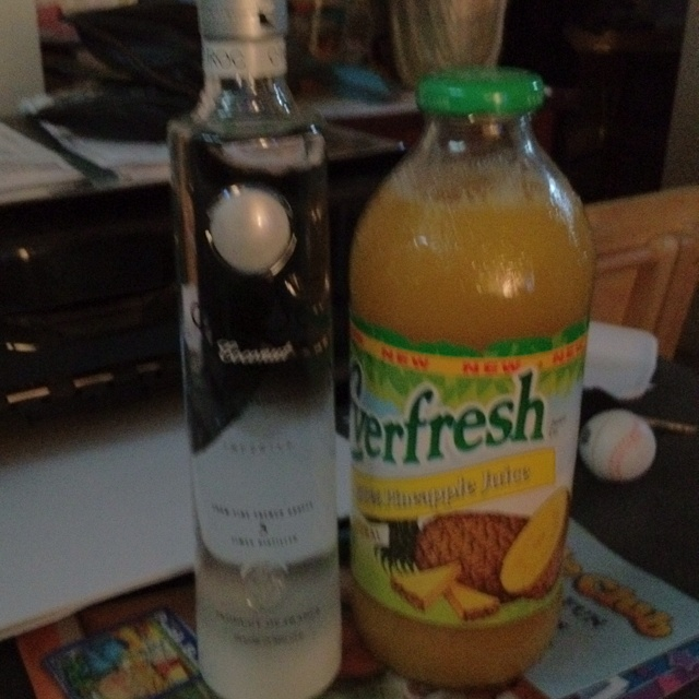 Ciroc coconut & pineapple juice YUMMY n gets the job done!!!!