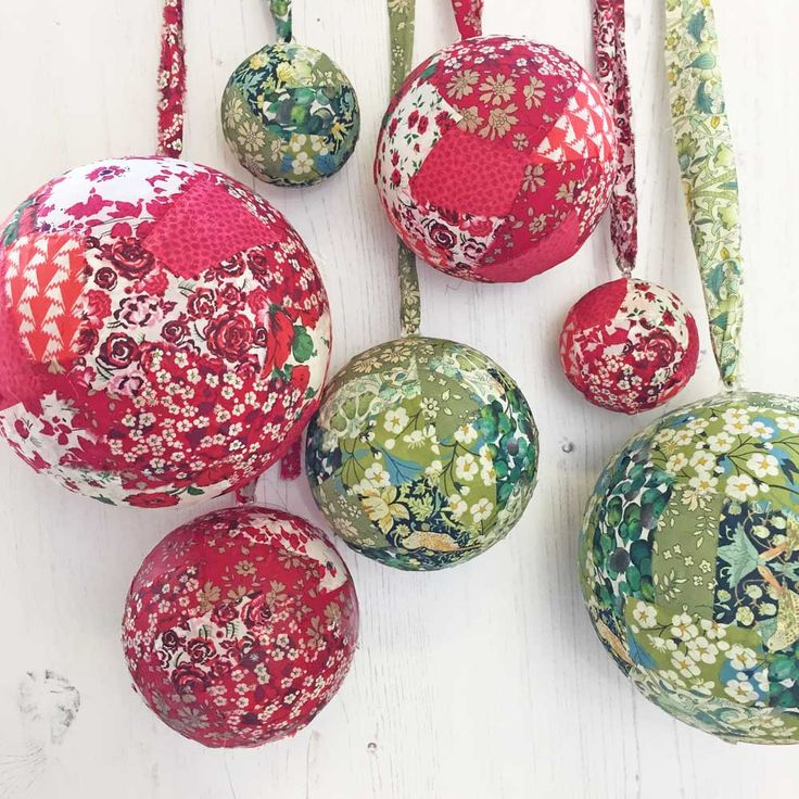 Liberty Christmas baubles - beautiful craft project using Liberty fabric