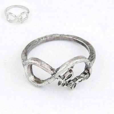Fashion Antique Silver Vintage Lucky Digital 8 Design(Letters Will Be Random) Alloy Korean #Rings   US$ 0.15  www.asujewelry.com