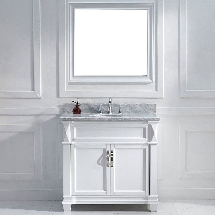Virtu USA Victoria 36-inch White Single Round Sink Vanity Set (36-in. Victoria White Single Round Sink Vanity), Size Single Vanities