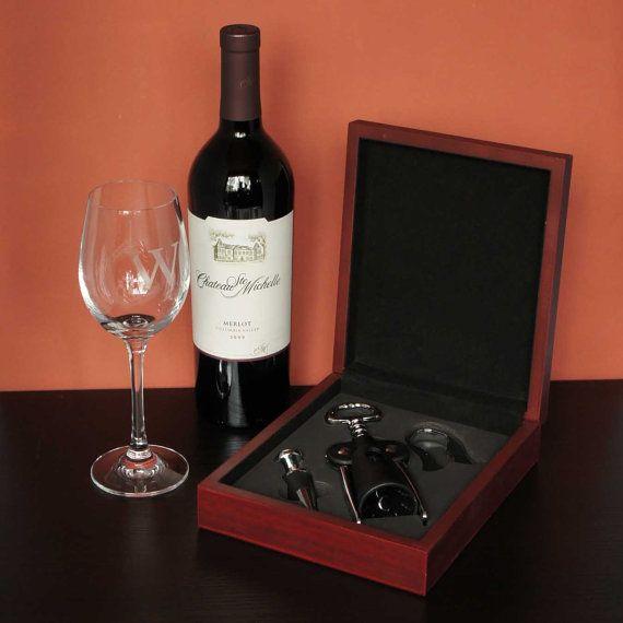 Personalized Wine Tool Set including Corkscrew, #housewares @EtsyMktgTool #winetoolset #winebottleopener #wineaccessories #anniversarygift