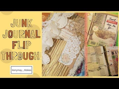 Junk Journal flip through from a Challenge from Kerrymay._.Makes