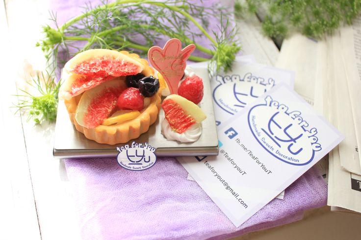 Instagram teaforyout #スイーツデコ #フェイクスイーツ #フェイクフード #粘土 #ハンドメイド #スイーツ #タルト #フルーツ #イベント #HAマルシェ東京 #SweetsDecoration #FakeSweets #FakeFood #Handmade #Clay #Sweets #Tart #Fruit #event #craftingfair