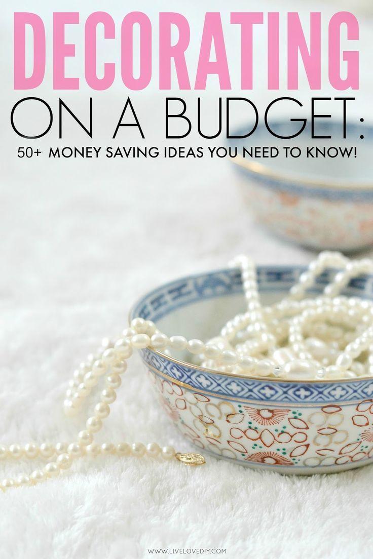 50 Amazing Budget Decorating Tips Everyone Should Know! I especially love #4! save money at home, budget home decor #decor #budget