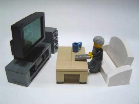 ▶ How to make Lego furniture. - YouTube