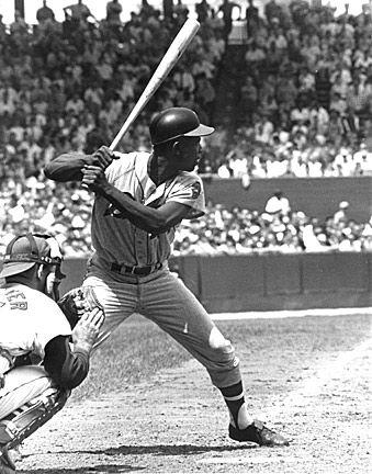 Hank Aaron hitting homer number one