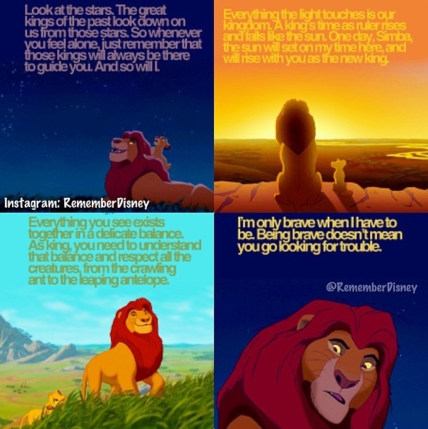 Lion King quotes.