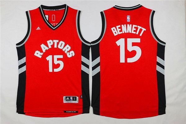Raptors #15 Anthony Bennett Red Stitched NBA Jersey