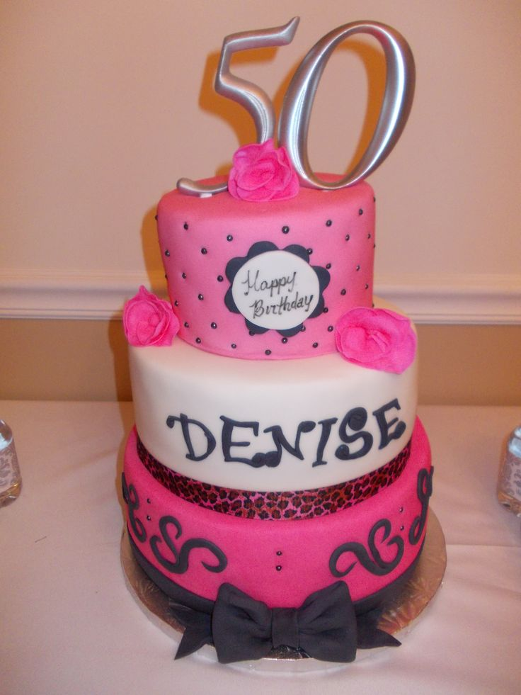 Special made 50th birthday cake for Denise. | Birthday ...