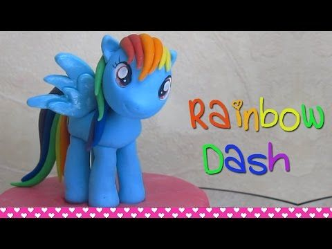 Fondant Rainbow Tutorial - How to make a Rainbow Cake Topper - YouTube