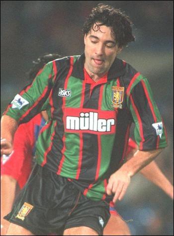 Aston Villa away.  1993 - 1995.  Saunders, Atkinson, McGrath.