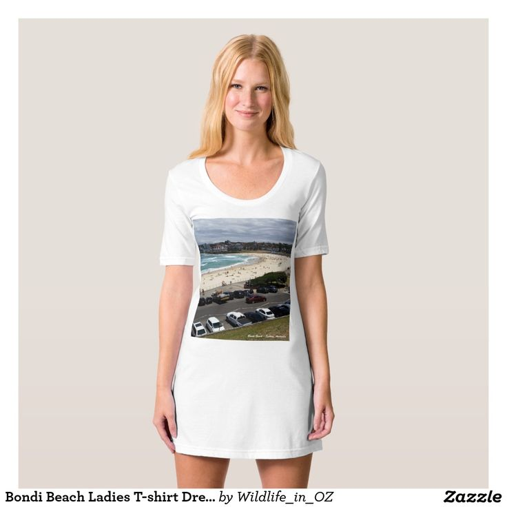 Bondi Beach Ladies T-shirt Dress / Nightie - Bondi Beach Australiana - Click on photo to view item then click on item to see how to purchase that item. #bondibeach #bondi #iconicbeach #sydney #australia #surf #sunrise #sand #surf