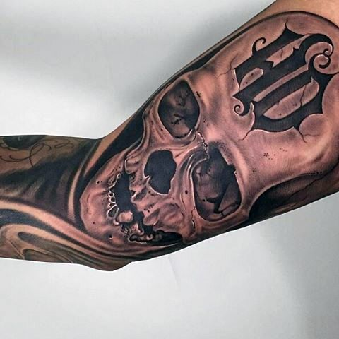 90 Harley Davidson Tattoos For Men - Manly Motorcycle Designs