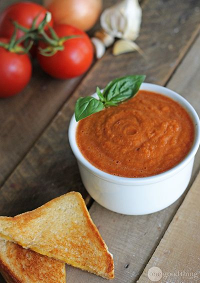 Tomato Soup (with fresh tomatoes - simple ingredients, looks good!)